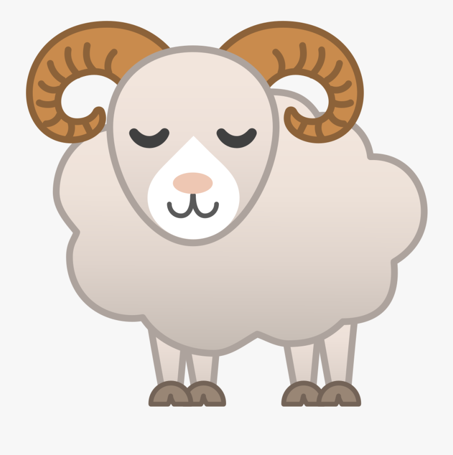 Icon Noto Emoji Animals - Cartoon Ram Animal Png , Free ...