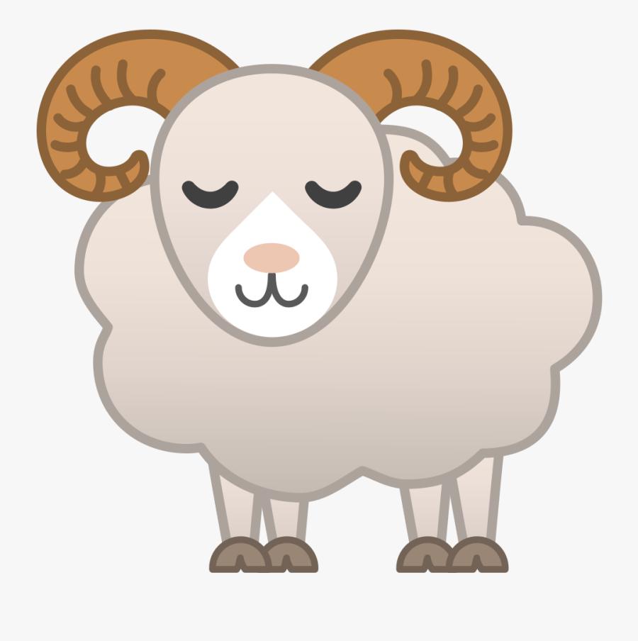 Icon Noto Emoji Animals - Cartoon Ram Animal Png , Free ...