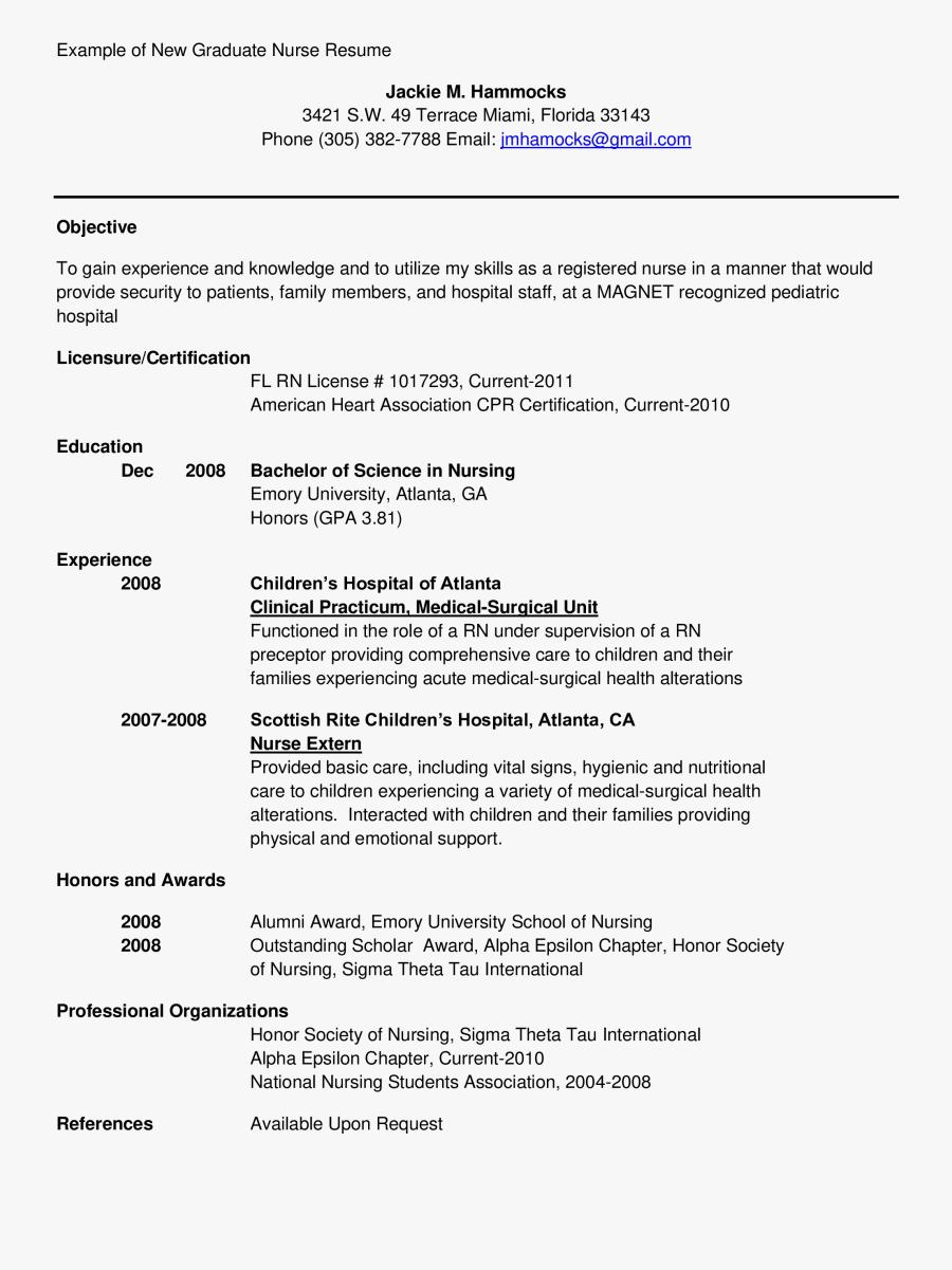 Clip Art Resume Template For Nurse - New Grad Nurse Resume, Transparent Clipart