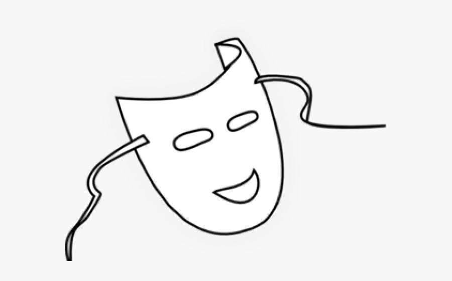 Transparent Mask Clipart Black And White - Cartoon, Transparent Clipart