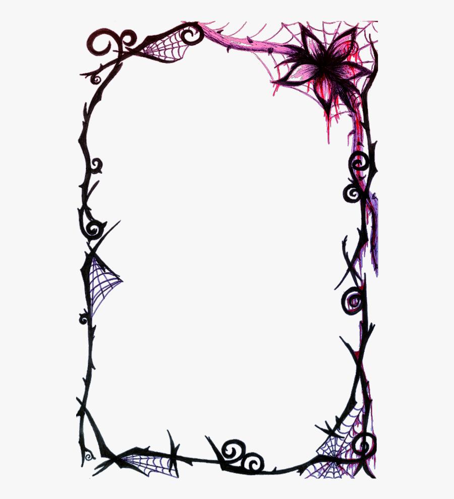 #mq #spiderweb #frame #frames #border #borders - Spider Web Border Design, Transparent Clipart