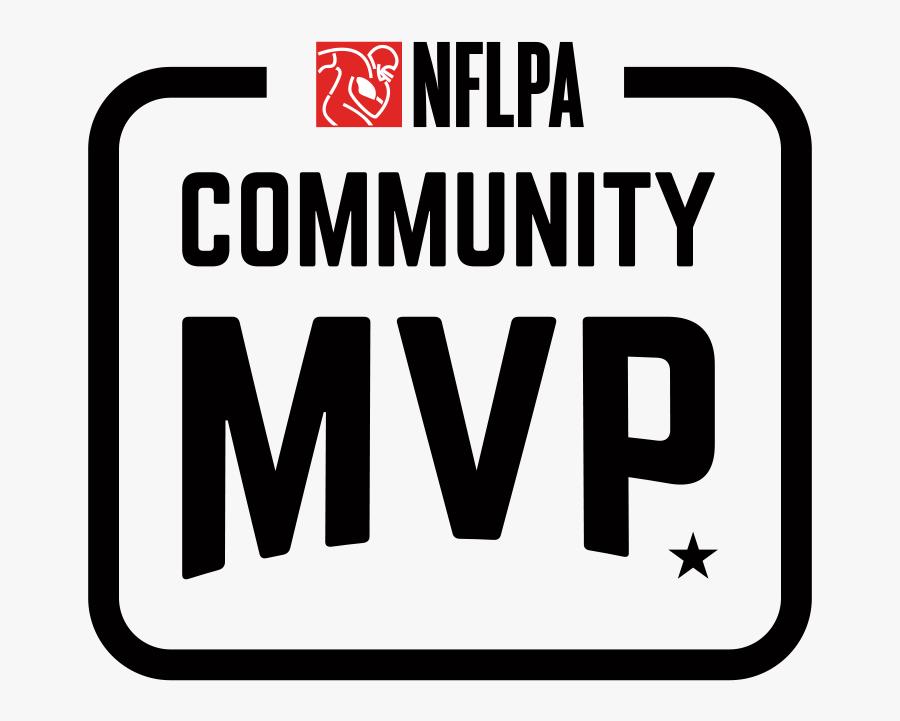 Nflpa Community Mvp Logo - National Football League Players Association, Transparent Clipart