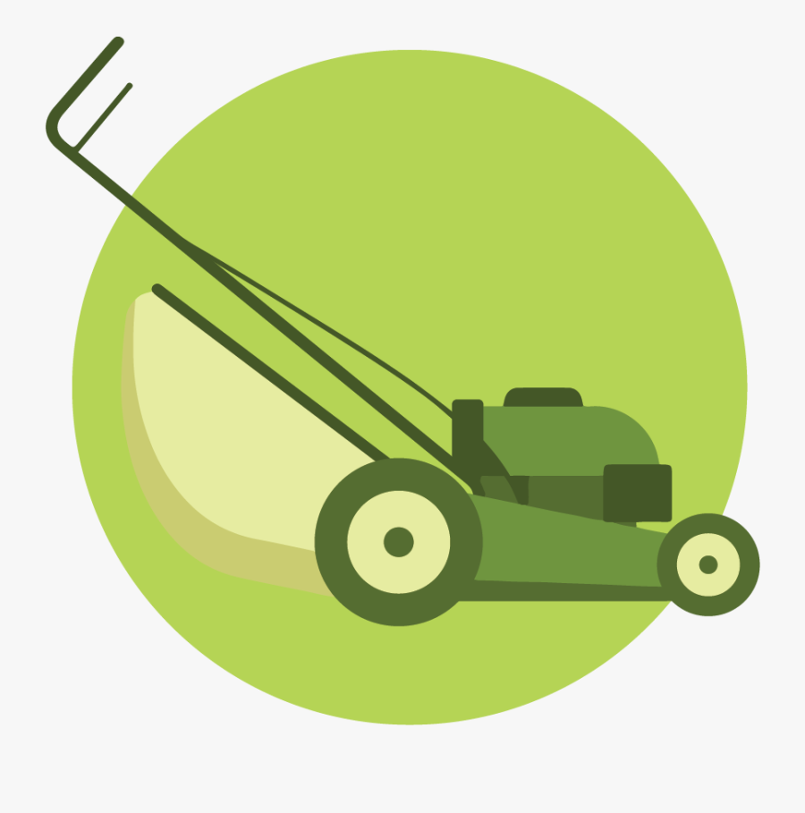 Transparent Lawn Mower Clip Art - Landscaping Lawn Mowing Icon, Transparent Clipart
