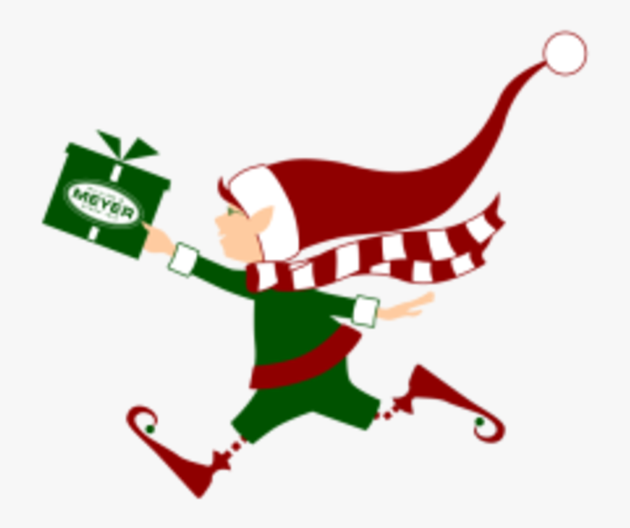 The Holiday 5k Run & Walk For Toys - Christmas Elf Running, Transparent Clipart