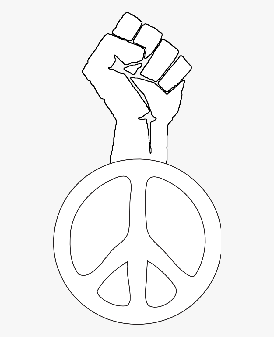 Black Power Fist Png - Black And White People Symbols, Transparent Clipart