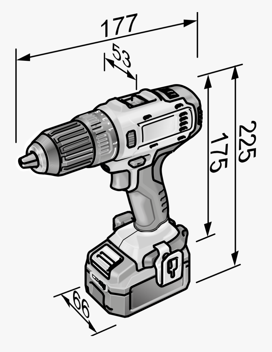 Product Drawing Dd 2g - Drill, Transparent Clipart