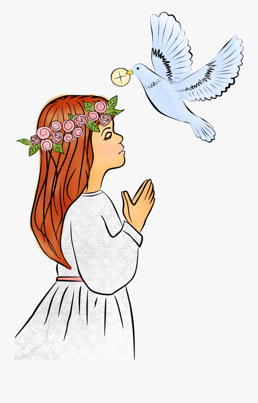 Digi Stemple By Alicecreations - First Holy Communion Girl Clipart, Transparent Clipart