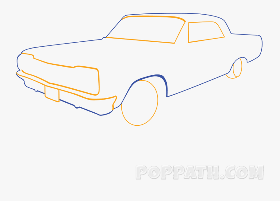 How To Draw A Classic Car Pop Path - Coupé, Transparent Clipart