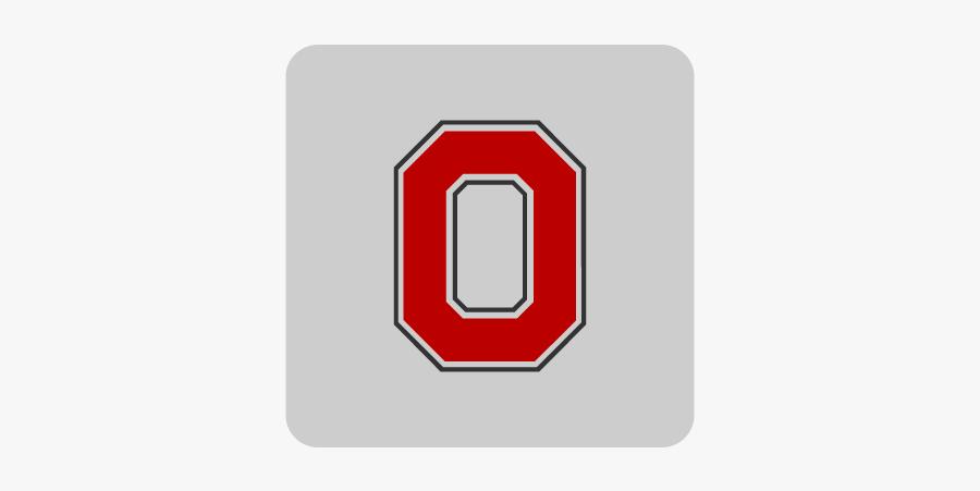 Ohio State Block O Logo, Transparent Clipart