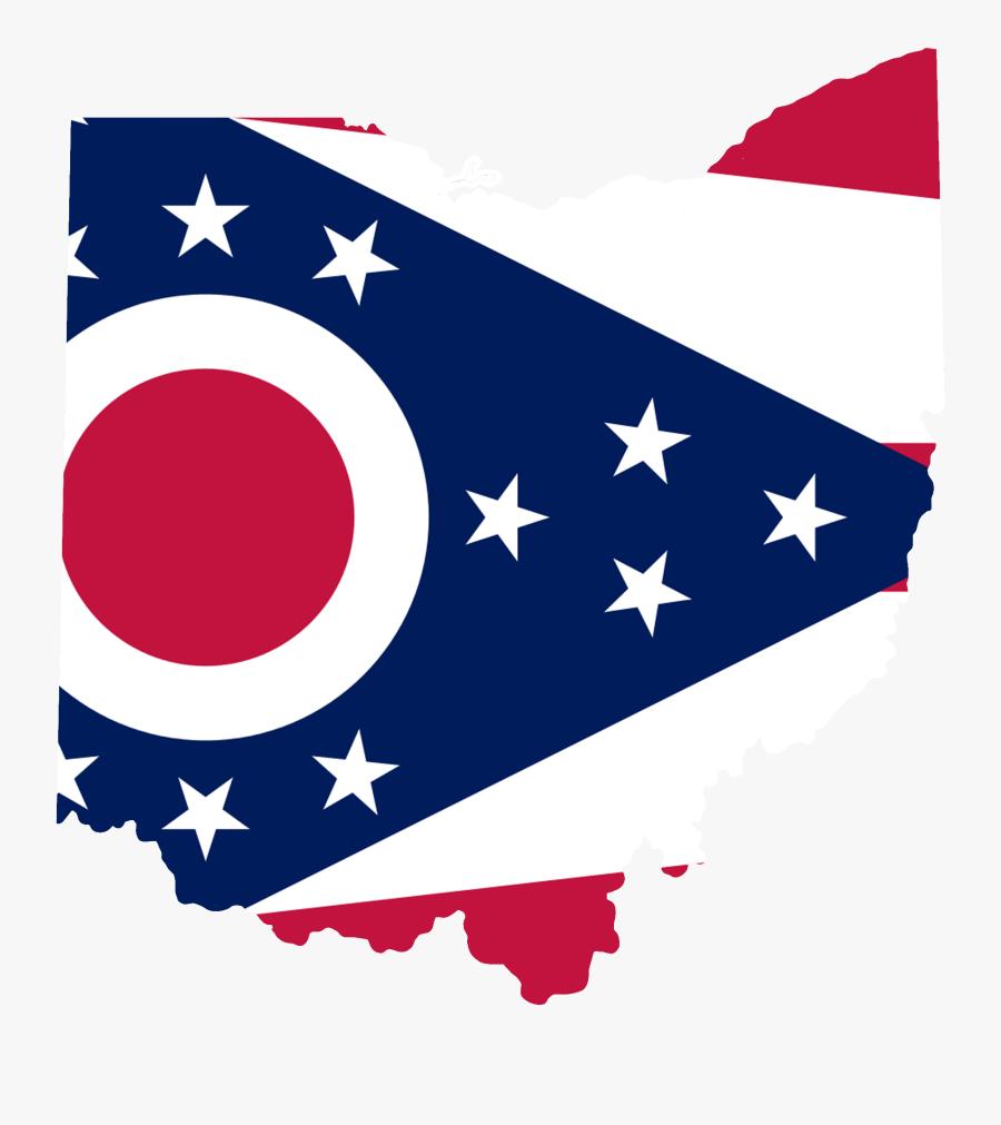 Ohio Flag Map Accurate - Ohio State Flag, Transparent Clipart