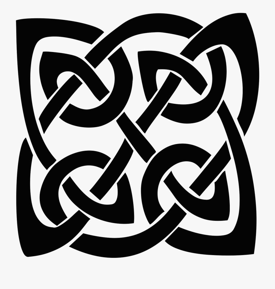 Square Celtic Knot - Celtic Knot Transparent, Transparent Clipart