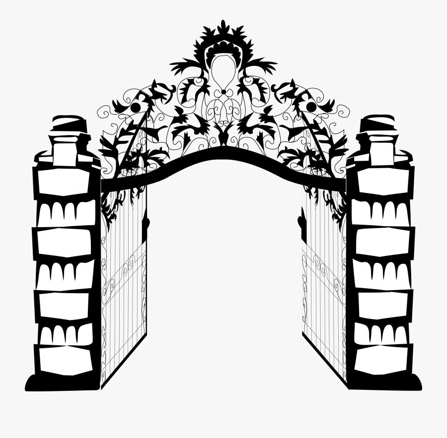 Clip Art Open Door Illustration - Gates Of Hell No Background, Transparent Clipart