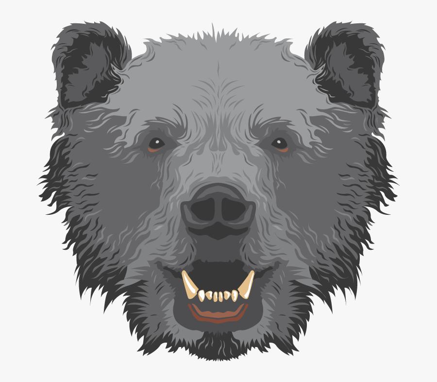 Transparent Polar Bear Clipart - Grizzly Bear, Transparent Clipart