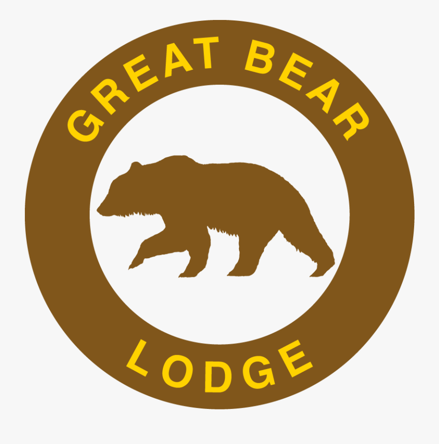 Great Bear Lodge Logo - Grizzly Bear, Transparent Clipart