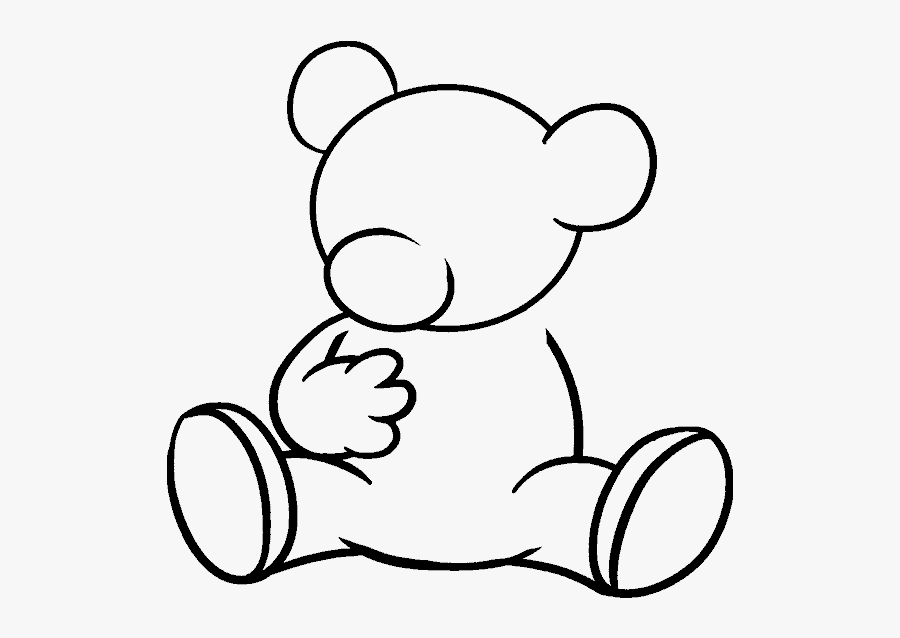 Drawing Bears Standing Huge Freebie Download For Powerpoint - Standing Teddy Bear Drawing, Transparent Clipart