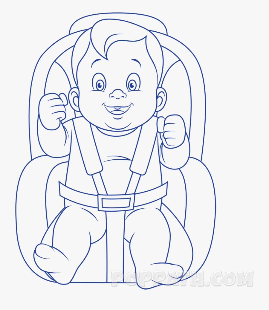 How To Draw A Baby In A Car Seat Pop Path, Transparent Clipart