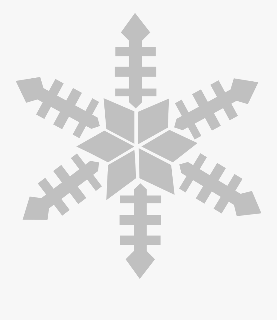 Gray Snowflake Clipart, Transparent Clipart