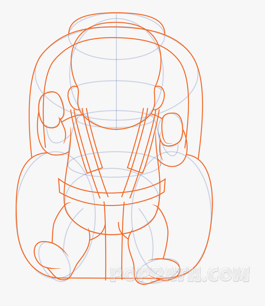 How To Draw A Baby In A Car Seat Pop Path - Illustration, Transparent Clipart