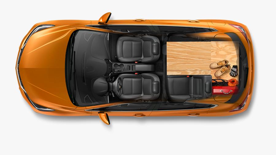 Clip Art Car Top View Png - 2018 Chevy Cruze Trunk Space, Transparent Clipart
