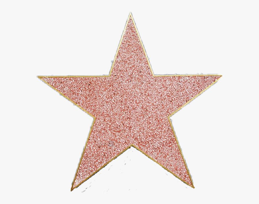 Transparent Hollywood Star Png - Walk Of Fame Star Png, Transparent Clipart
