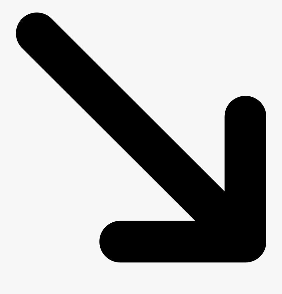 Arrow Down Right Bottom Svg Png Icon - Arrow Pointing Bottom Right, Transparent Clipart