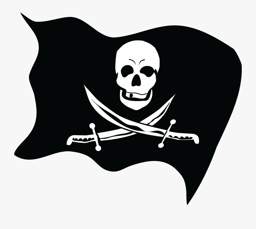 32646 - Pirate Flag Png, Transparent Clipart