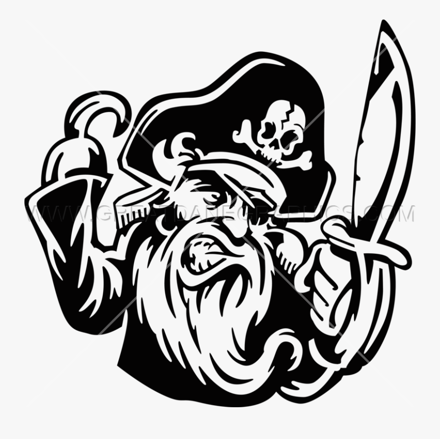 Drawing Pirates Transparent Png Clipart Free Download - Pirates Clipart Black And White, Transparent Clipart