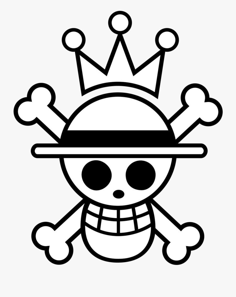 Pirate Flag Drawing - One Piece Gif Transparent, Transparent Clipart