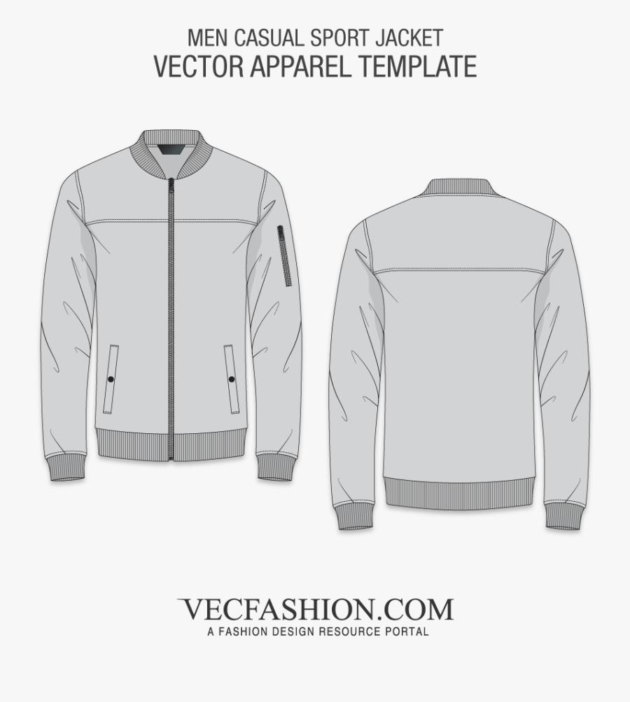 Transparent Black Sweater Png - Jacket Design Template Black, Transparent Clipart