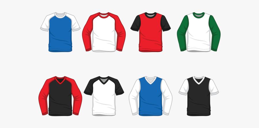 """Men""""s Raglan T-shirt Vector - T Shirt Vector Png, Transparent Clipart"""