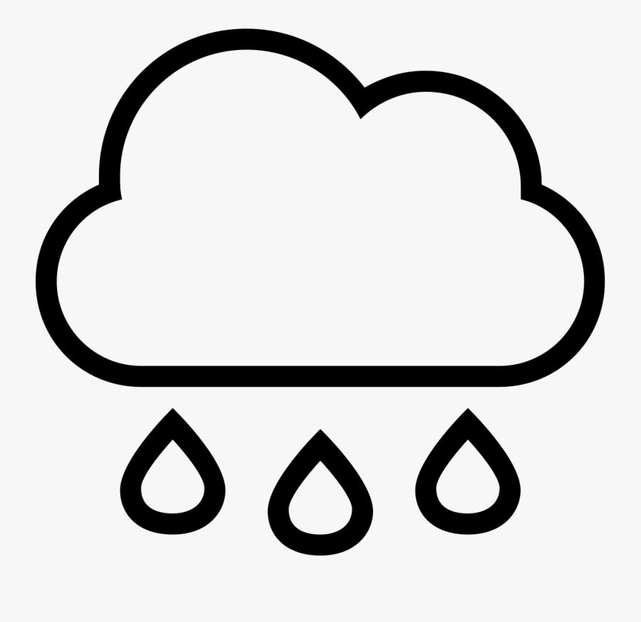 Transparent Stroke Clipart - Simple Rain Cloud Drawing, Transparent Clipart