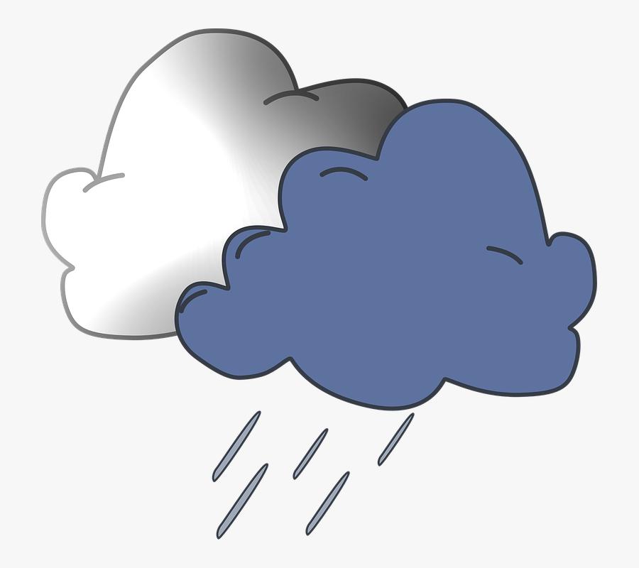 Transparent Windy Clipart - Rain Cloud Transparent Png, Transparent Clipart
