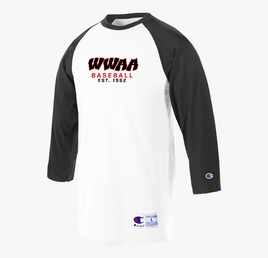 Baseball Clipart Raglan - Long-sleeved T-shirt, Transparent Clipart