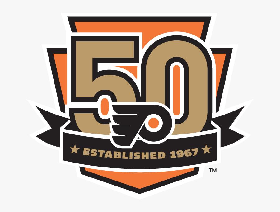 Philadelphia Flyers 50th Anniversary, Transparent Clipart