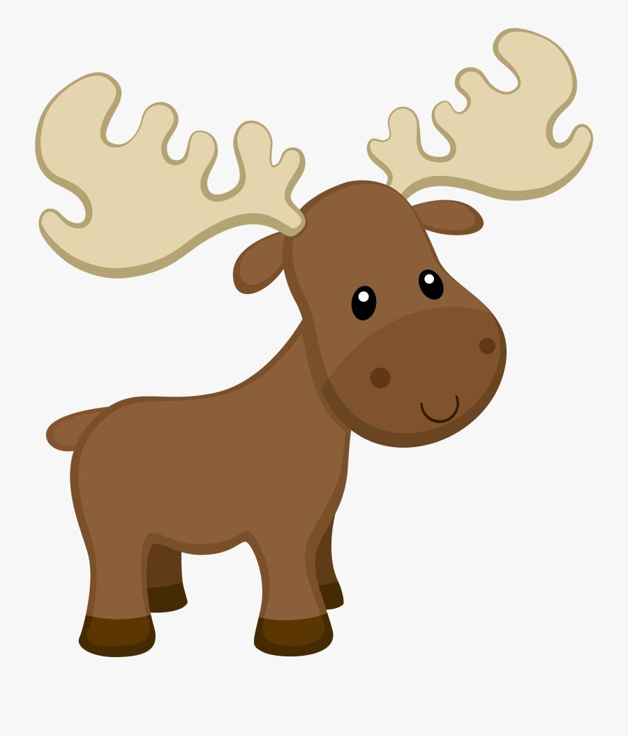 Woodland Clipart Moose - Woodland Moose Clipart, Transparent Clipart