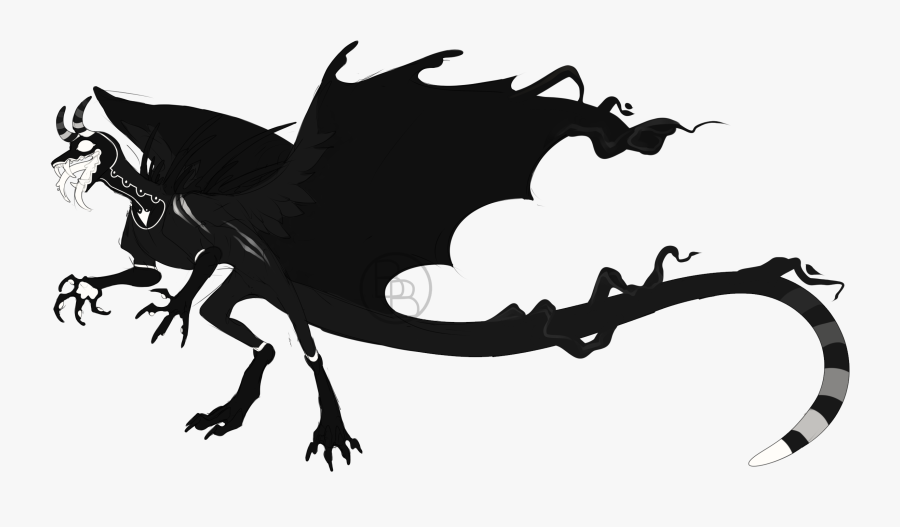 Dragon Black & White - Illustration, Transparent Clipart