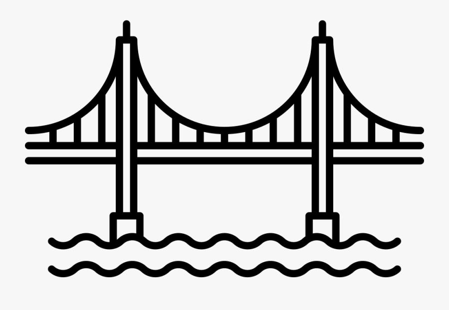 Golden Gate Bridge Comments - Golden Gate Bridge Svg, Transparent Clipart