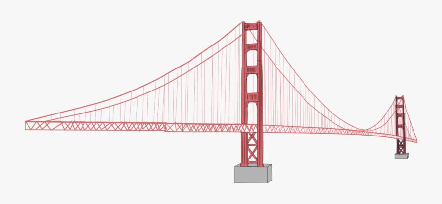 Golden Bridge Clip Art - Golden Gate Bridge, Transparent Clipart