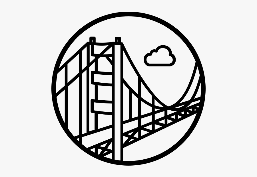 """""""  Class=""""lazyload Lazyload Mirage Cloudzoom Featured - Golden Gate Bridge White Drawing, Transparent Clipart"""