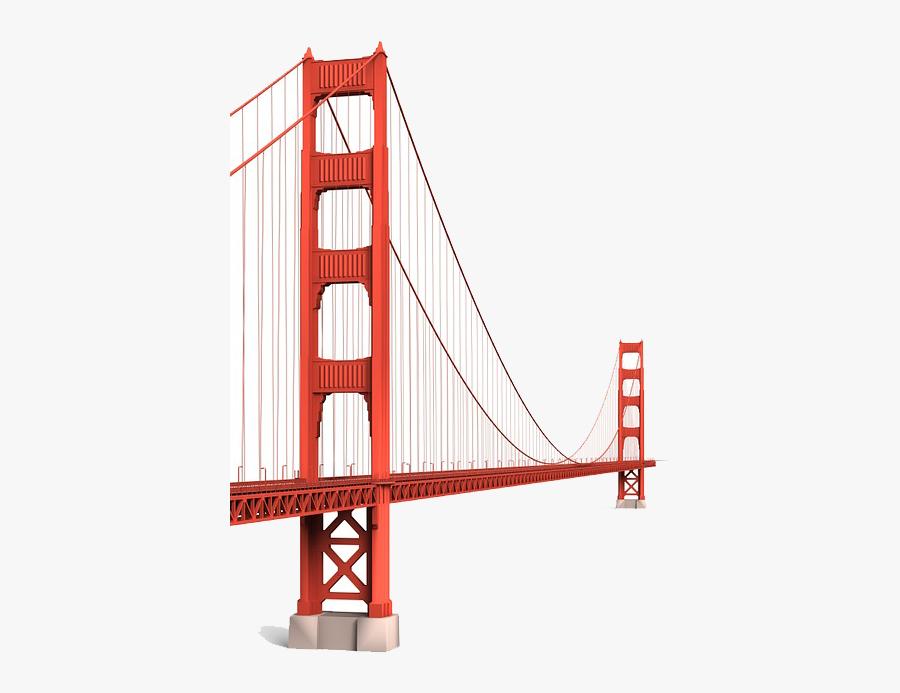 Clip Art San Francisco Pier Union - Golden Gate Bridge, Transparent Clipart