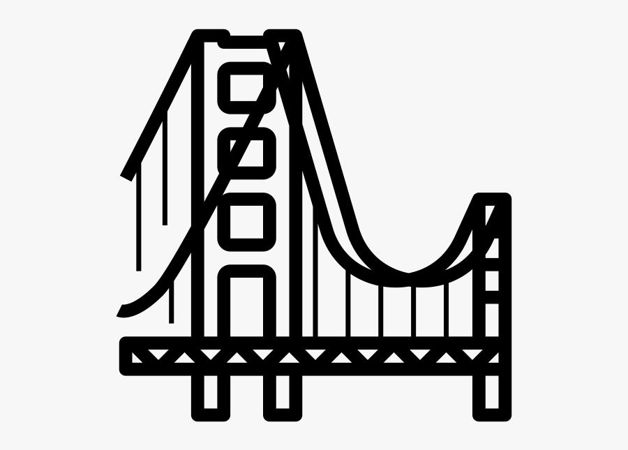 Transparent Golden Gate Bridge Clipart - Golden Gate Bridge, Transparent Clipart