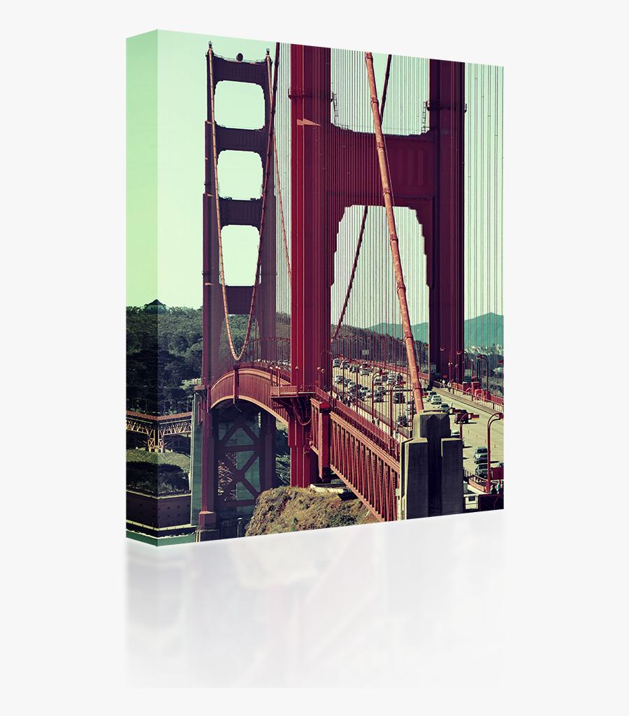 Transparent Suspension Bridge Clipart - Golden Gate Bridge, Transparent Clipart