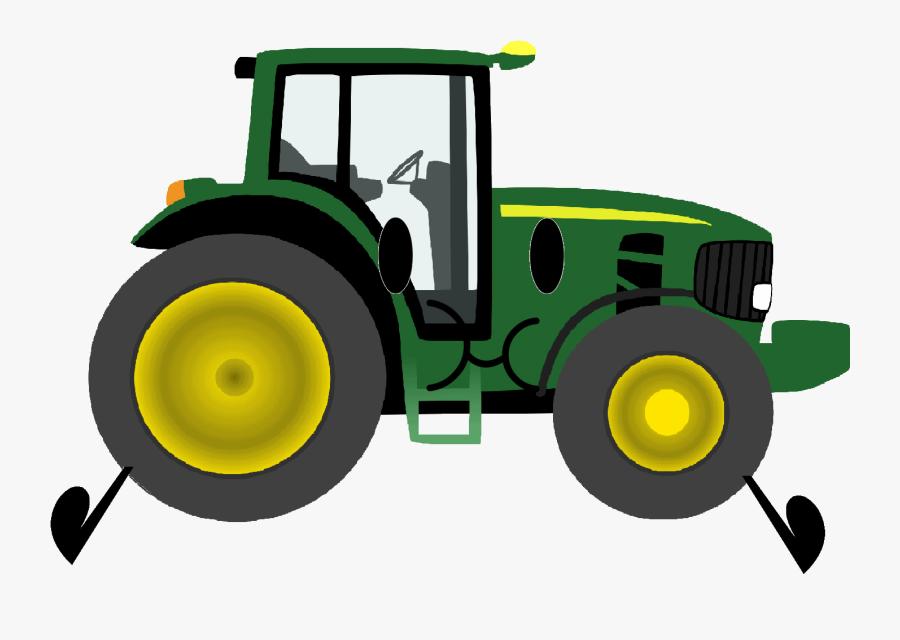 John Deere Clip Art Christmas Tractor Agriculture - Cartoon Tractor Transparent Background, Transparent Clipart