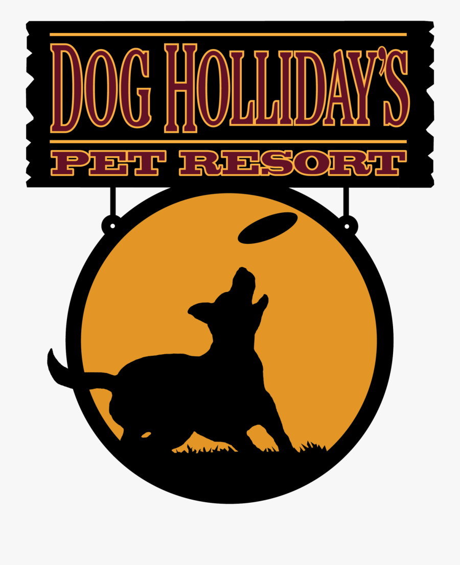 "Dog Holliday""s Pet Resort - Silhouette, Transparent Clipart"