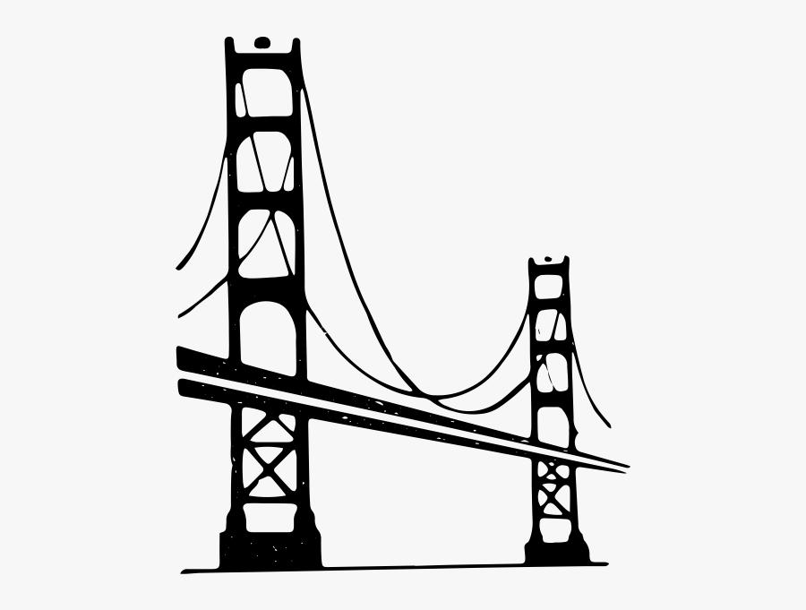 "Golden Gate Bridge Rubber Stamp""  Class=""lazyload Lazyload - Golden Gate Bridge, Transparent Clipart"