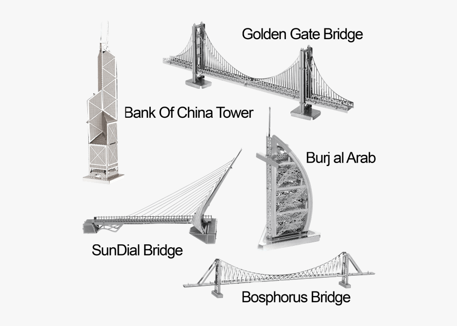 Transparent Suspension Bridge Png - Golden Gate Bridge, Transparent Clipart