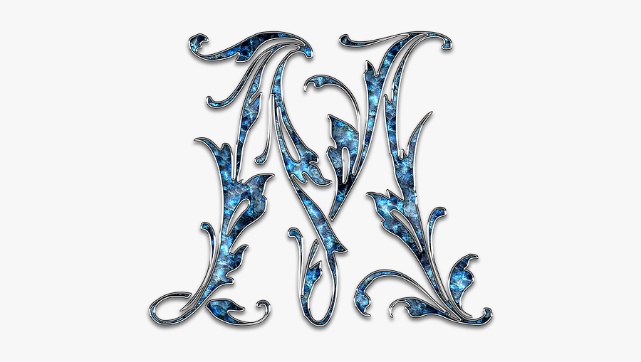 Letter, Letter M, M, Initials, Font, Alphabet - M Initials Font, Transparent Clipart