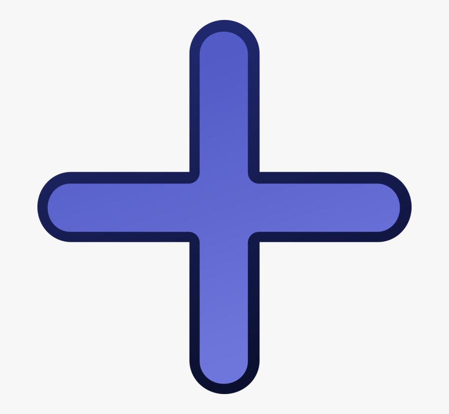 Electric Blue,purple,symbol - Plus Sign Clipart, Transparent Clipart