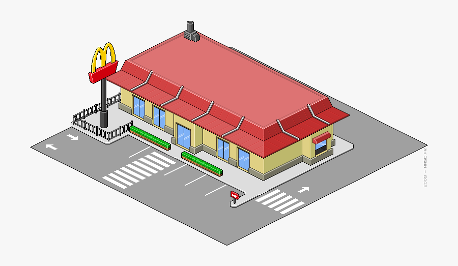 Mcdonalds Reveal Pixel Art Building Free Transparent