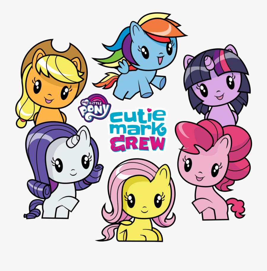 Heads Up The Cutie Mark Crew Happy Meal Toys Are Now - Mlp Cutie Mark Crew, Transparent Clipart